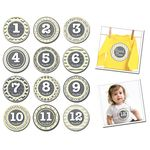 Baby Month Stickers 1-12mths pattern princess