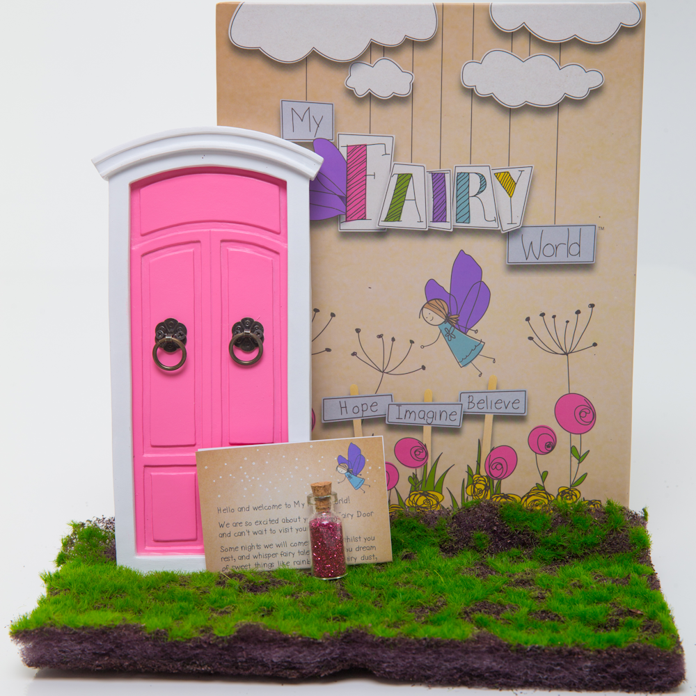 Buy online little fairy doors australia express shipping for Pink fairy door
