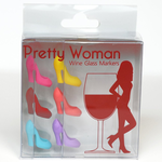Pretty Woman Wine Glass Markers