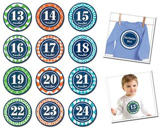 Sticky Bellies Patterned Prepster 13-24mths