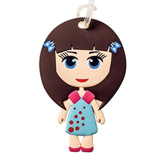 Bobble art Paper Doll luggage tag