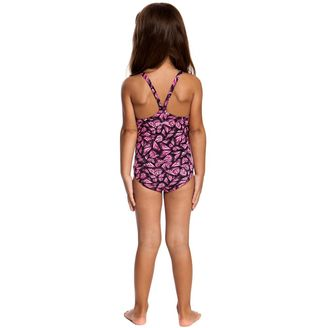 funkita girls 1 piece swimsuit Pink Flutterby