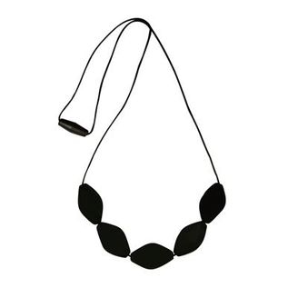 Mummabubba tulip bead necklace Black