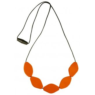 Mummabubba tulip bead necklace Orange