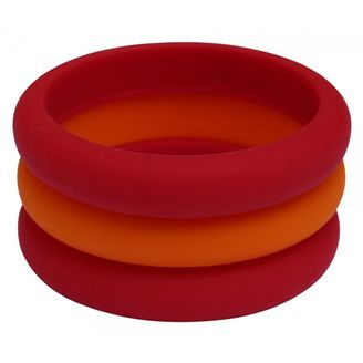 MummaBubba Jewellery Set of 3 bangles red and orange