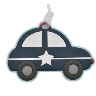 Bobble art cars luggage tag