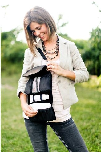Lillybit Uptown Diaper Clutch Black Open