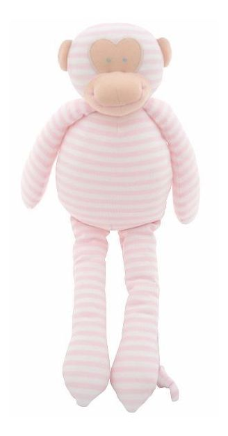 Alimrose Musical Monkey Pink Stripe
